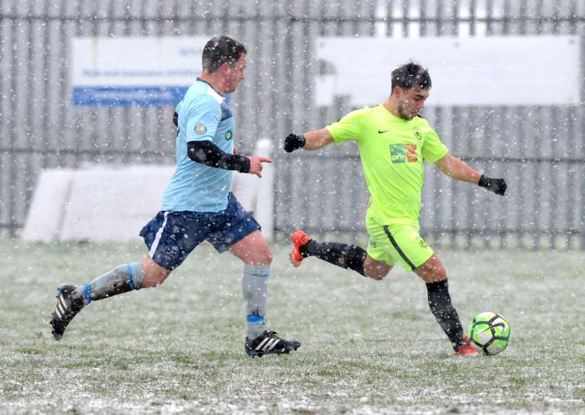FOOTBALL - Gym United v White Hart FC in the last 16 of the FA Sunday Cup ''Pictured: Tanner Call'''PICTURE: Mecha Morton