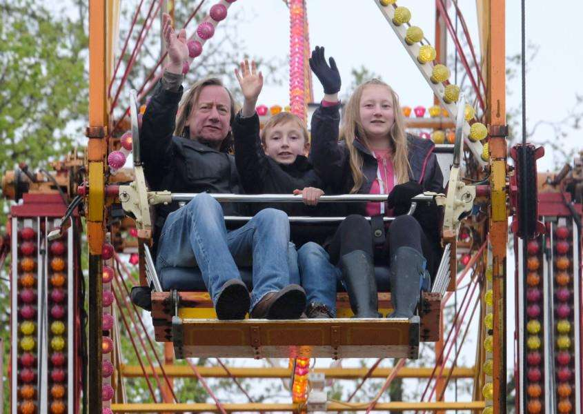 There were many attractions including a big wheel for families to enjoy- picture Richard Marsham