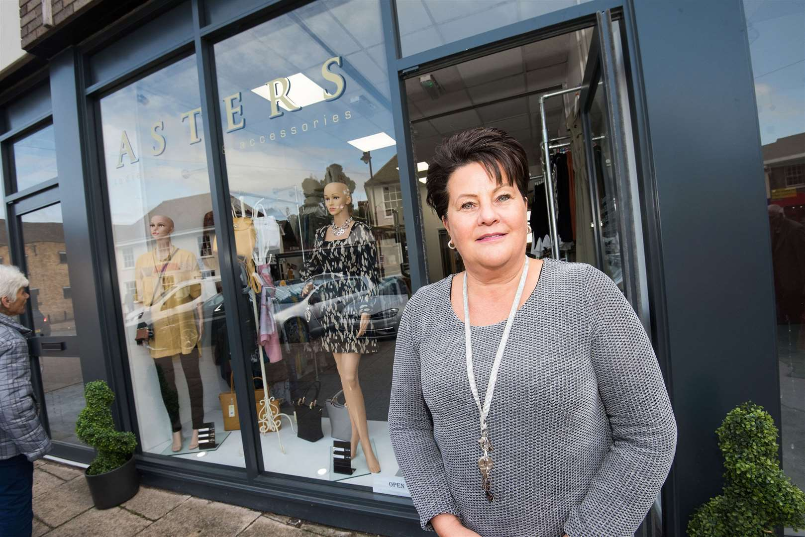 SUDBURY: New shop.Asters, Old Market Place, Sudbury, Suffolk .Asters, a new ladies' clothing and accessories shop, opened at the the site of the old Post Office building in Sudbury on Friday, September 27, 2019..store owner Bridget Baldwin at the shop. Picture Mark Westley. (18275226)