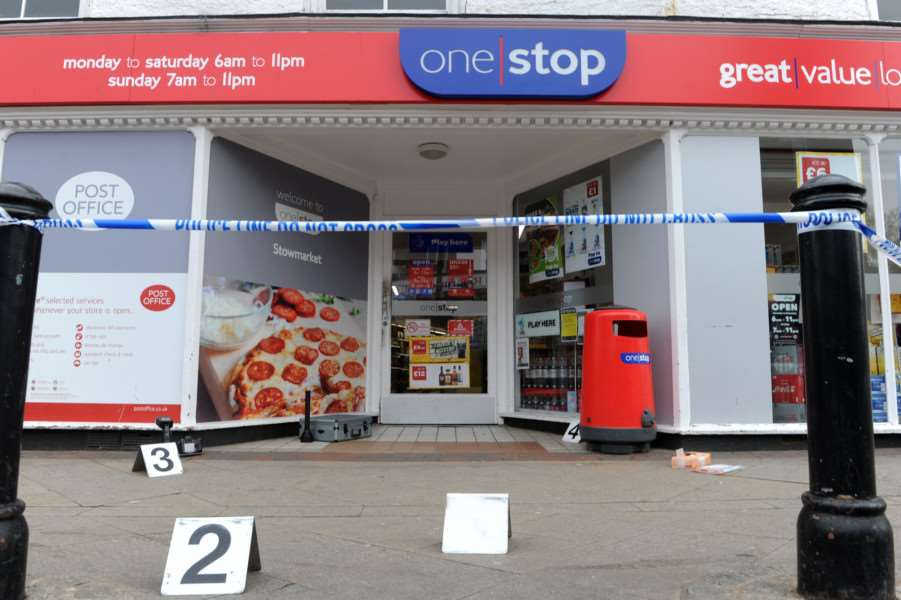One Stop in Ipswich Street, Stowmarket was victim to an armed robbery on Sunday morning