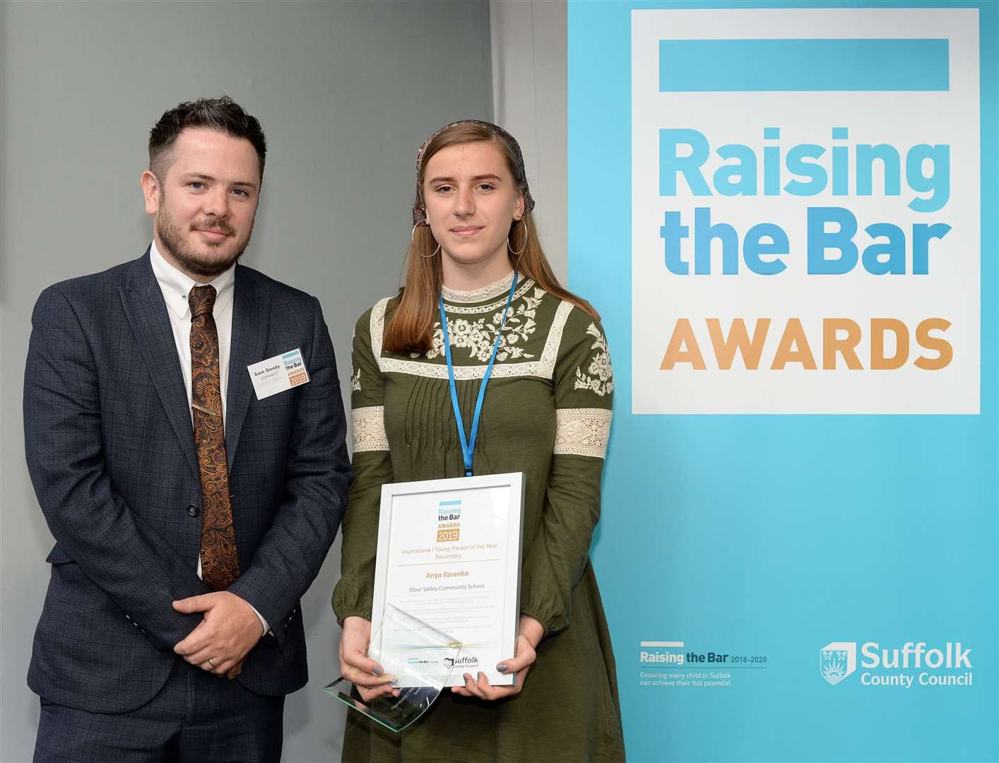 Anya Ilczenko, of Stour Valley Community School, was named a winner of the Inspirational Young Person of the Year award at the 2019 Raising The Bar Awards. Contributed picture. (13833711)