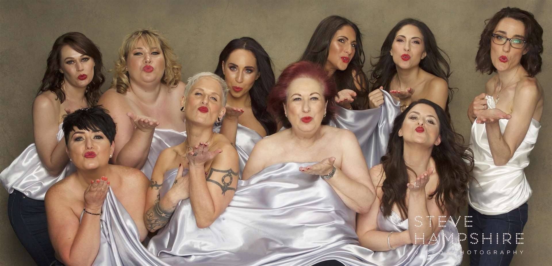 The 10 women who took part in the shoot. Picture: SteveHampshire Photography (2294532)