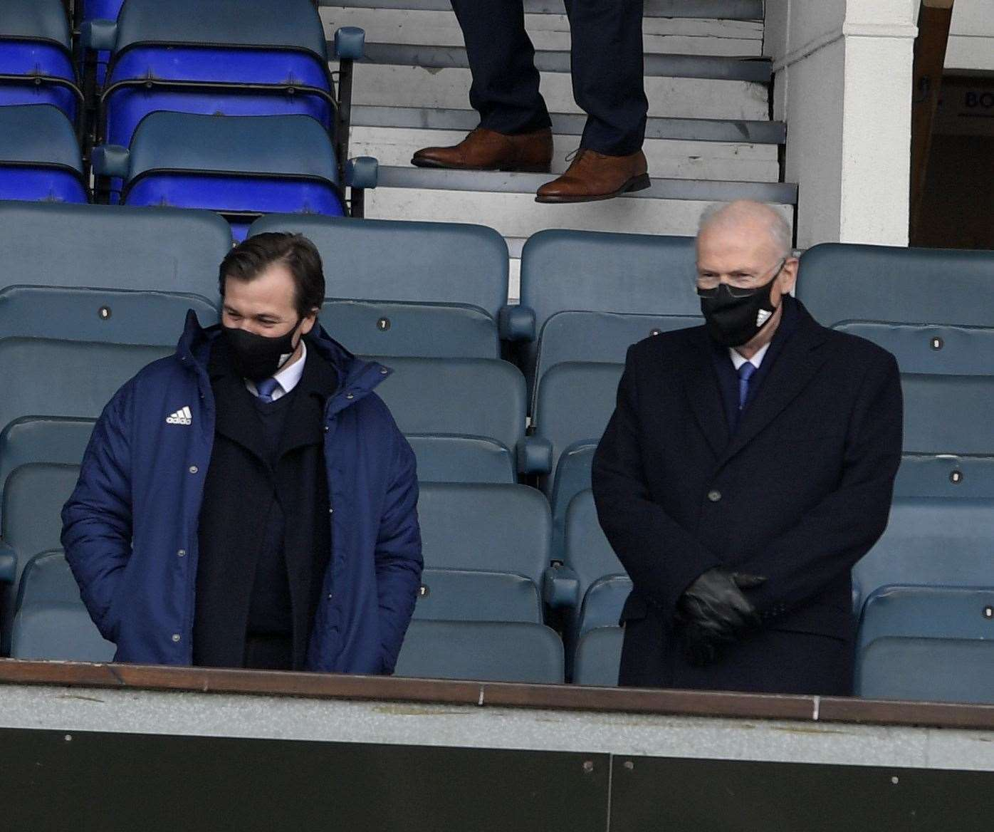 New Ipswich Town chairman Mike O'Leary (right) attended his first game at Portman Road since assuming the role on Saturday and next alongside Lee O'Neil, general manager of football operations and academy manager Picture: Barry Goodwin