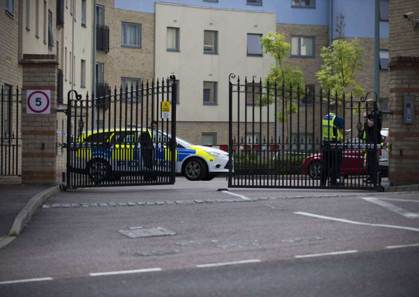 Shooting in Bury St Edmunds in flats on Station Hill.'Picture Mark Westley ANL-150508-101809009