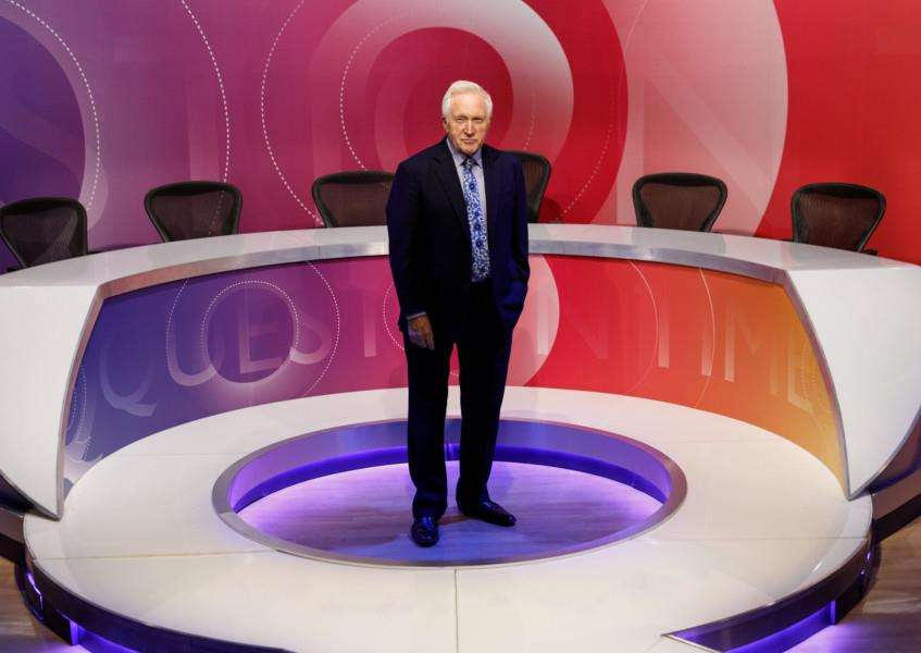 Question Time, which is presented by David Dimbleby, is visiting Bury St Edmunds for the first time tonight