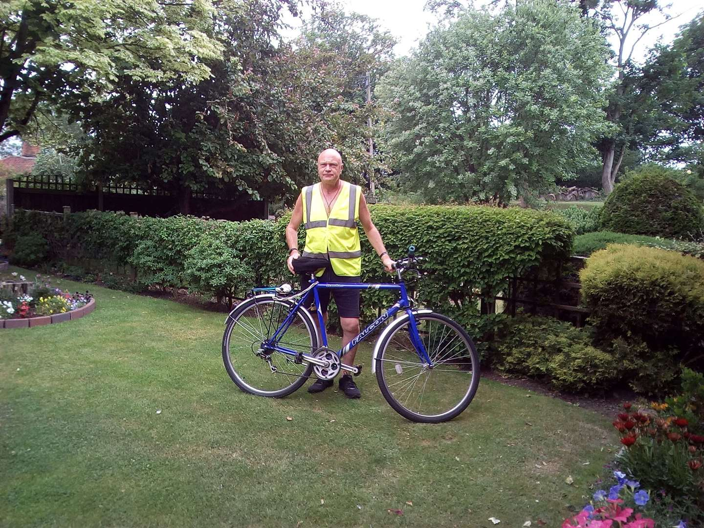 Mark Punchard, who works at Central England Co-op's Halesworth Food Store, is aiming to bike 300 miles in September in memory of his sister. Picture: Submitted. (41037855)