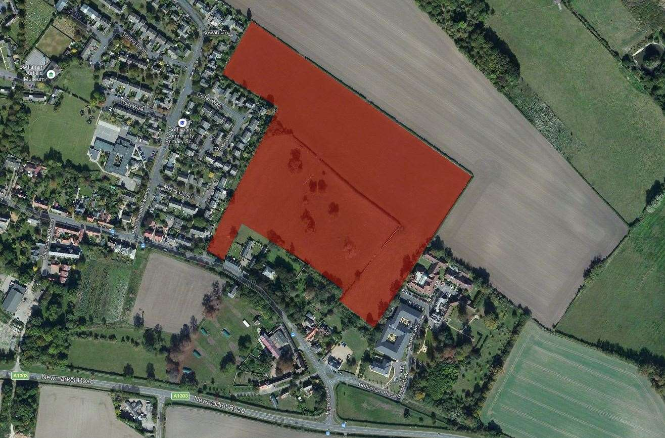 Where Axis Land Partnerships wants to build the new 'retirement village' in Bottisham