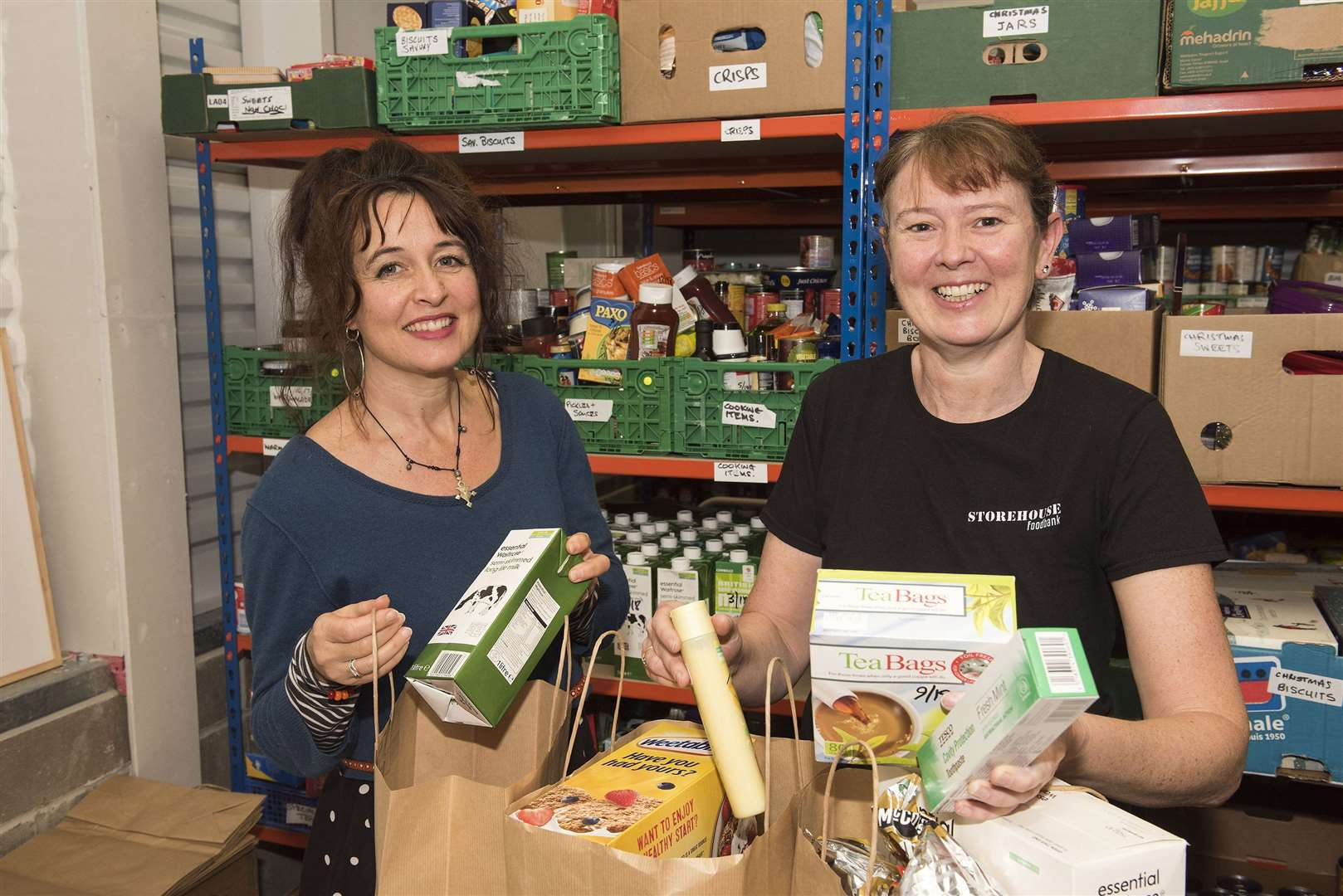 Sudbury..Vineyard Centre, Tudor Road, Sudbury, Suffolk CO10 1NP..The Storehouse Foodbank in Sudbury is ramping up its efforts to cope..with the expected rise in demand for its services over the Christmas..period. Emma Stewart-Darling Pastor and SH team leader, Vicky Leonard community liaison...Picture Mark Westley. (9871969)