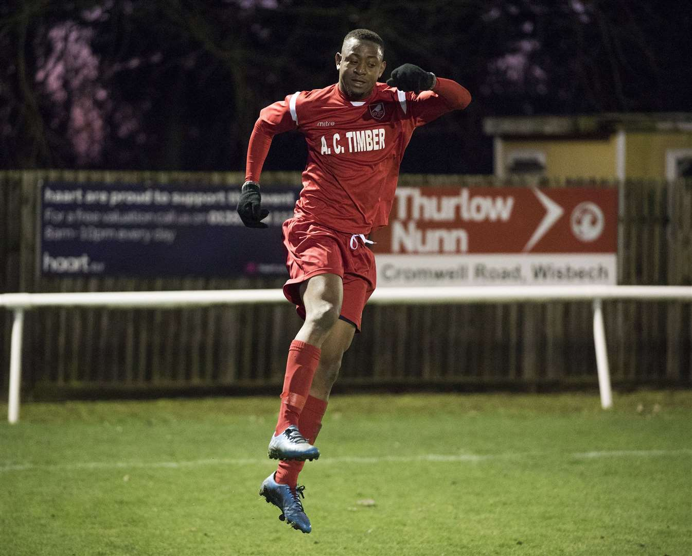 .Ely City Football Club V Walsham Le Willows.Kelvin Enaro scored for Ely City.Picture Mark Westley. (36812378)