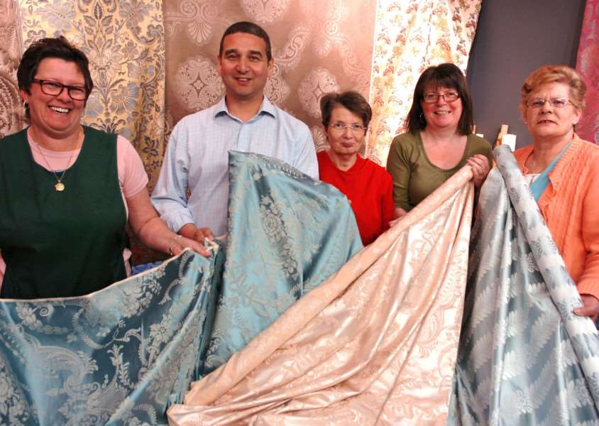 Staff at Gainsborough Silk Weaving of Sudbury. ENGANL00120110419165548