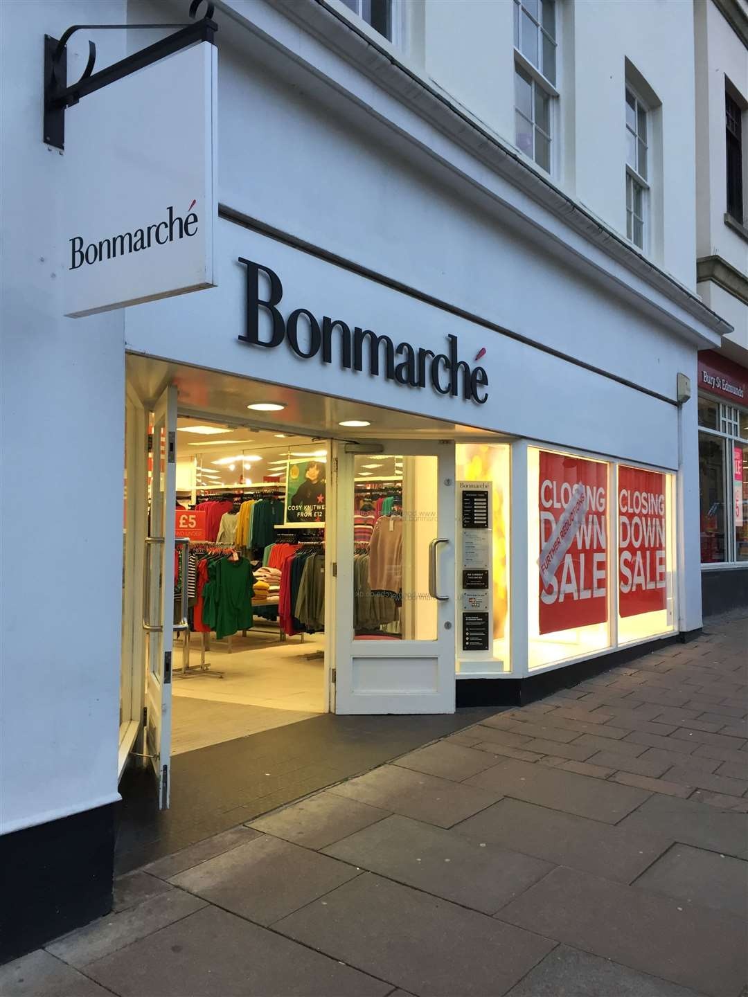 Closing down signs have gone up at Bon Marche, in Bury St Edmunds (26264085)