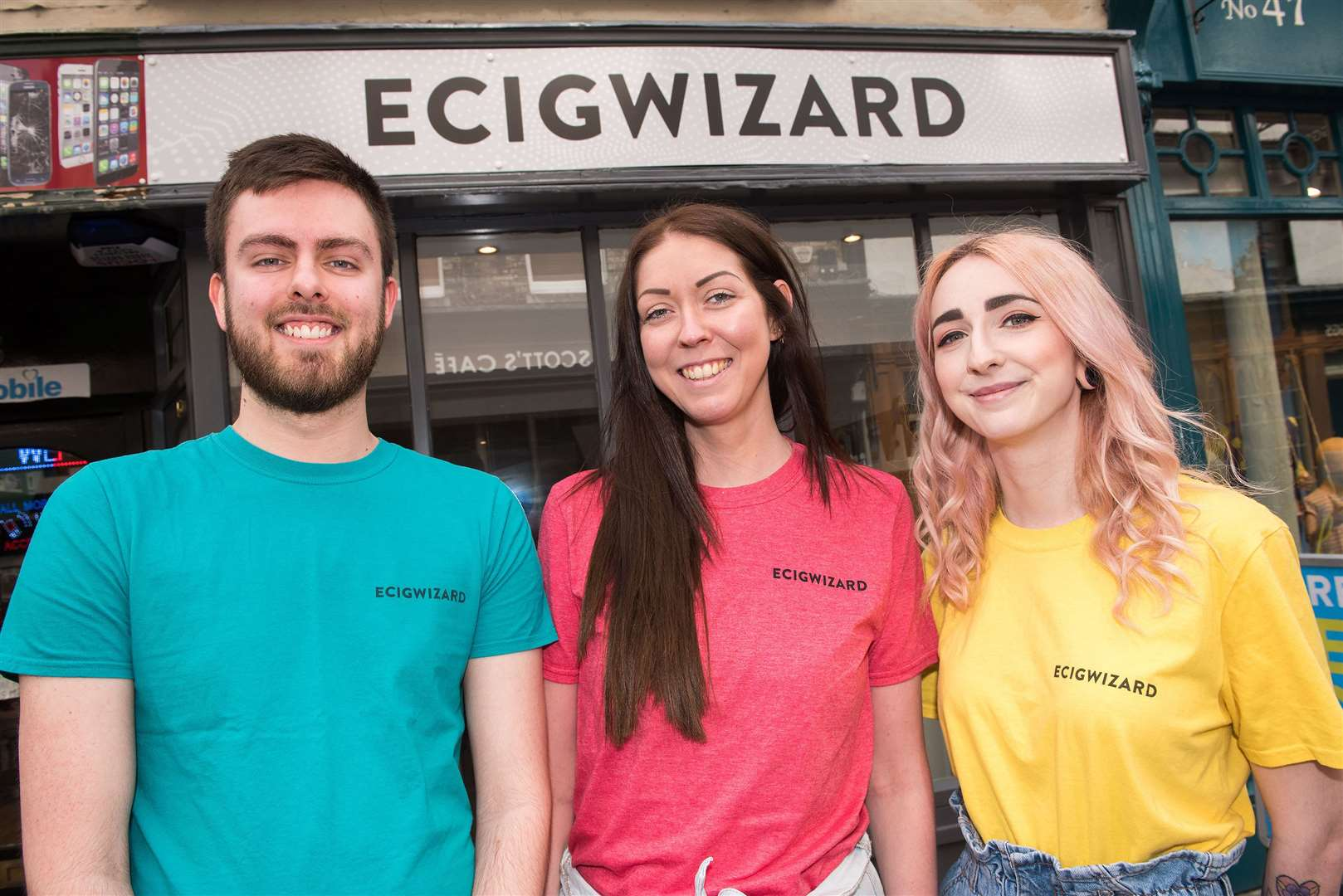 Vape shop.Ecigwizard, Abbeygate St, Bury Saint Edmunds Max Cornish, Lucy Smith manager and Yas Murr..For a Love Local feature we're speaking to a few shop types bucking the national trend by thriving as others close. One of these is E Cig Wizard in bury St Edmunds. Picture by Mark Westley. (9146341)