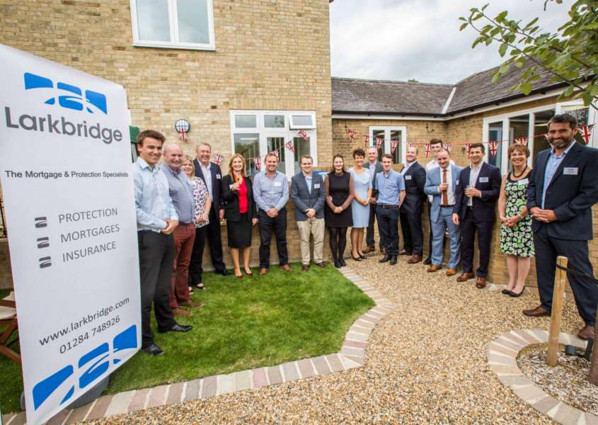 Official opening of the office at 'The Stables', Flempton House, to mark the first year of Larkbridge Mortgages Ltd trading from Flempton. ANL-160922-162225001