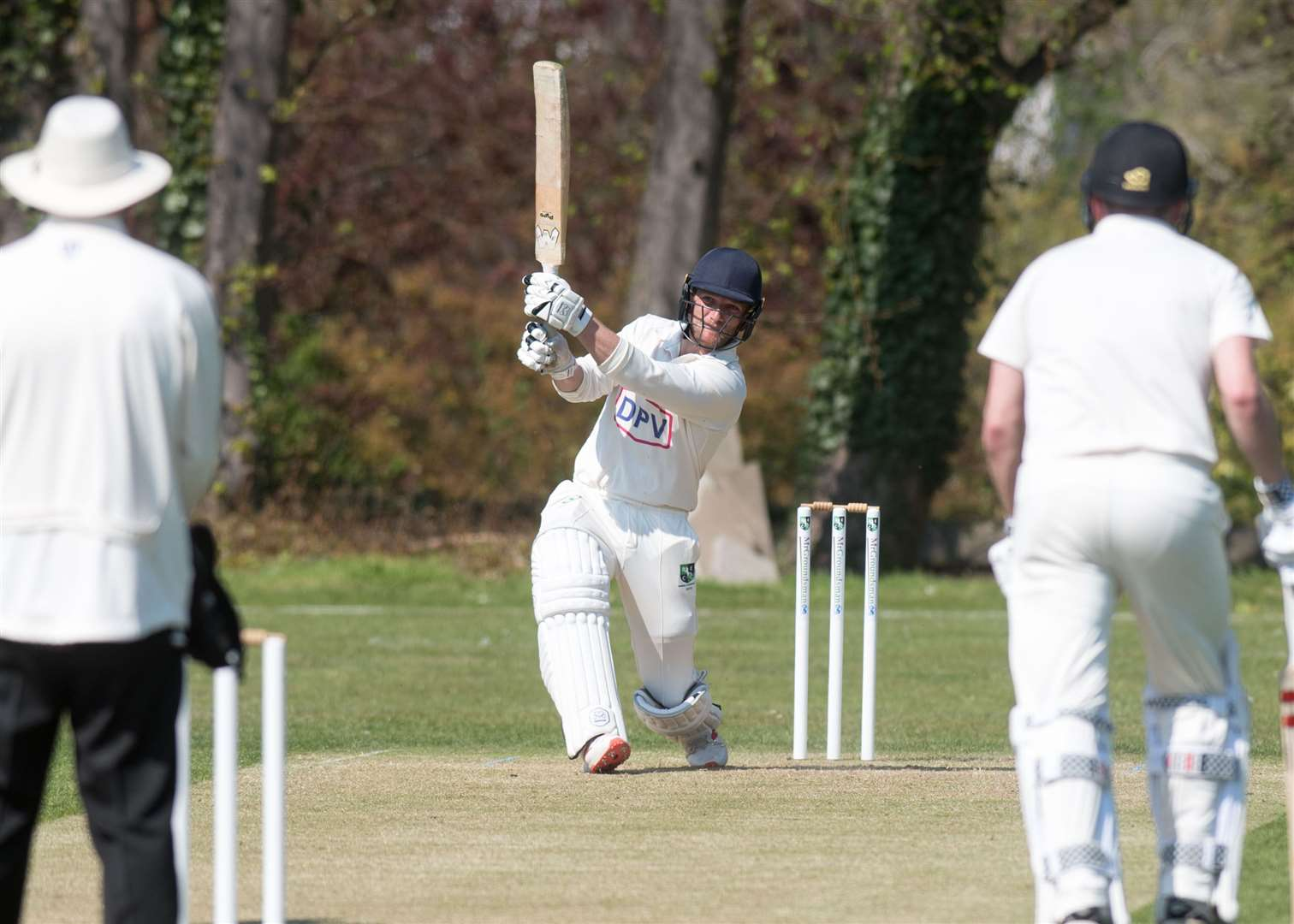CRICKET: Burwell & Exning v Vauxhall Mallards Sam Rippington batting for B&E Picture by Mark Westley. (8955531)