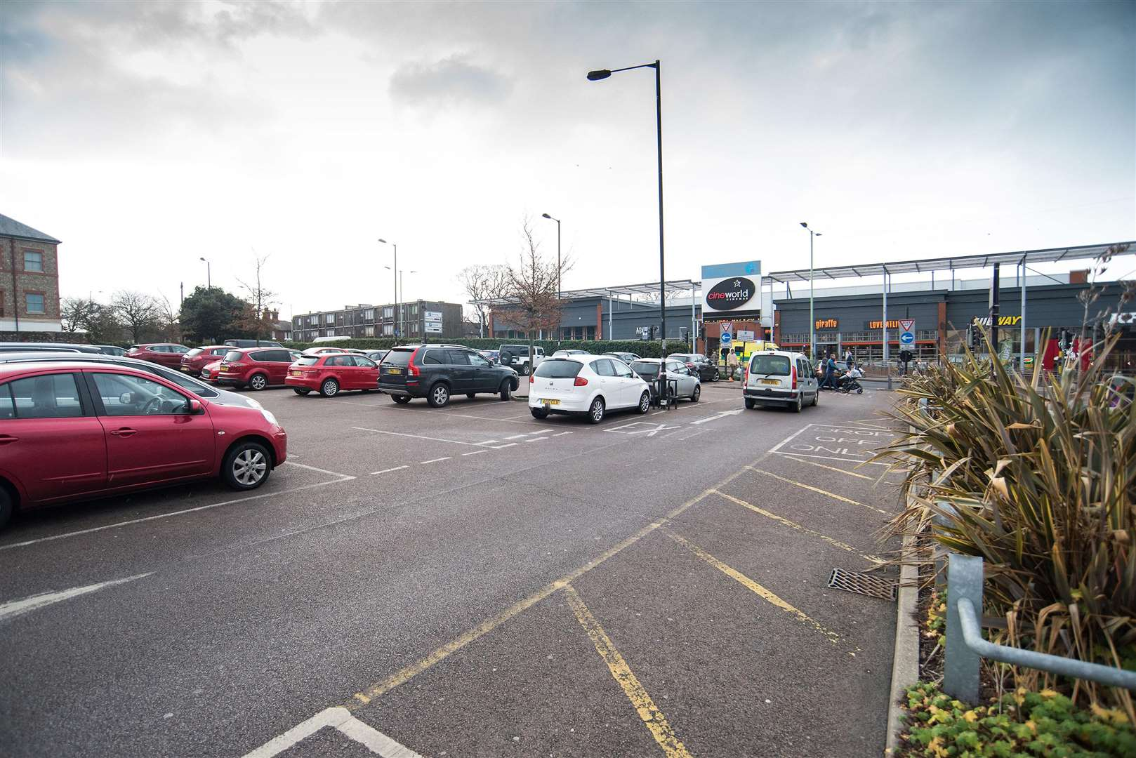 The restricted area includes the arc/Cattle Market car parks and Parkway multi-storey. Picture: Mark Westley.