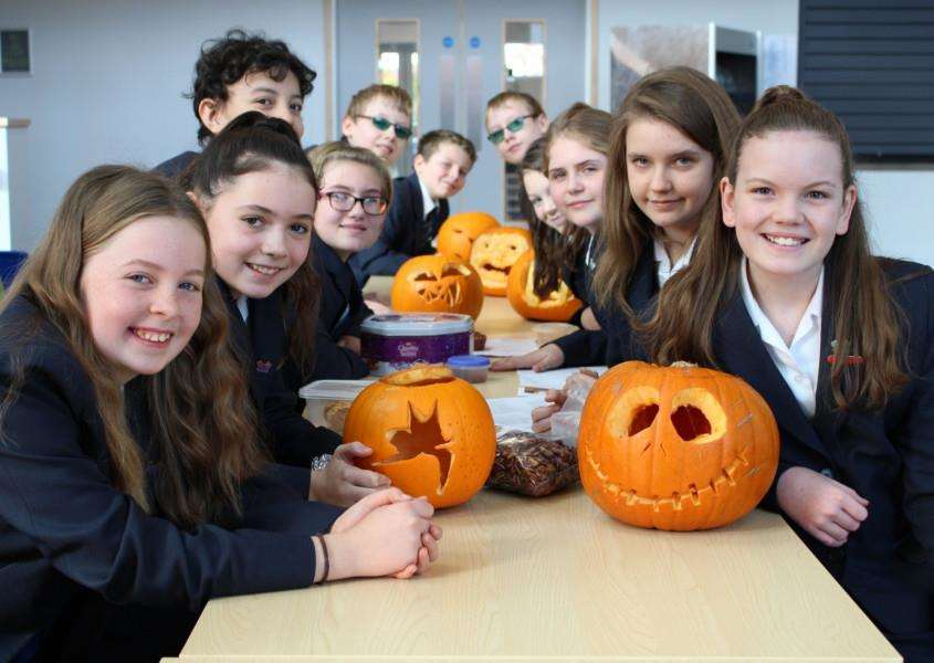 Sybil Andrews Academy hosted a day of Halloween activities to draw attention to high levels of food waste