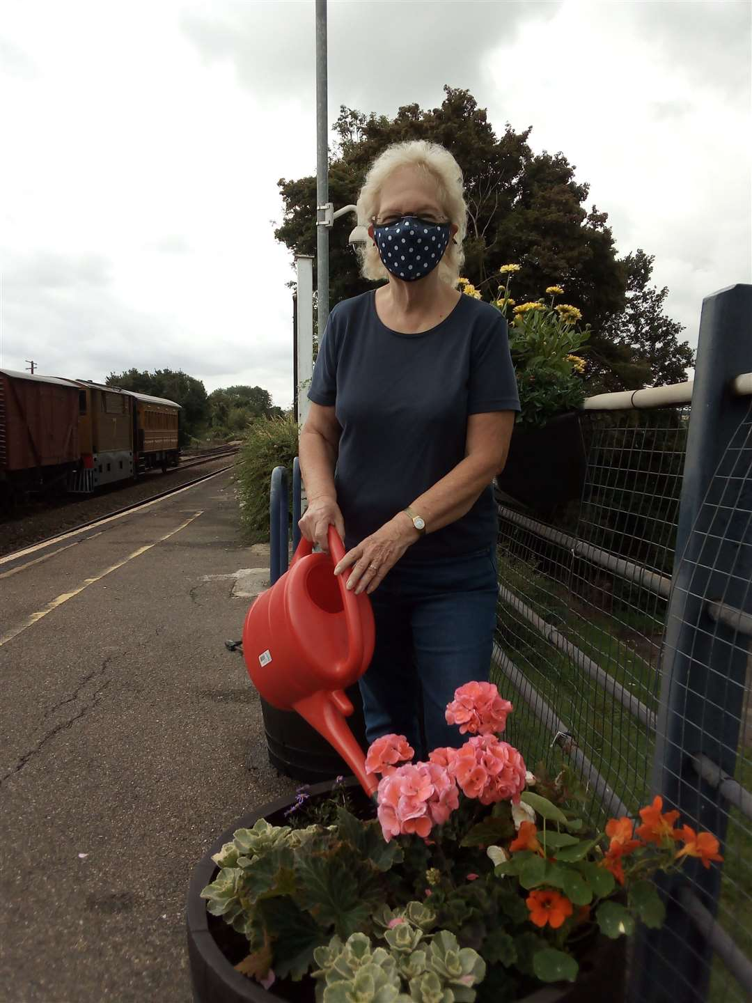 Katherine Beck has joined the Station Adopter Scheme at Chappel & Wakes Colne station. (39859437)