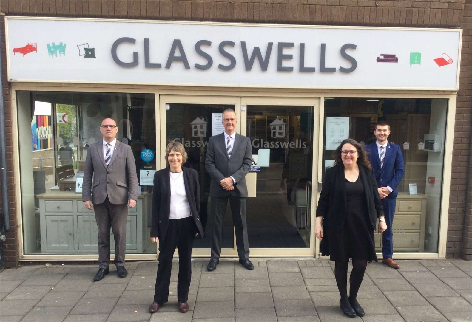 The team at Glasswells in Haverhill. Picture by Glasswells
