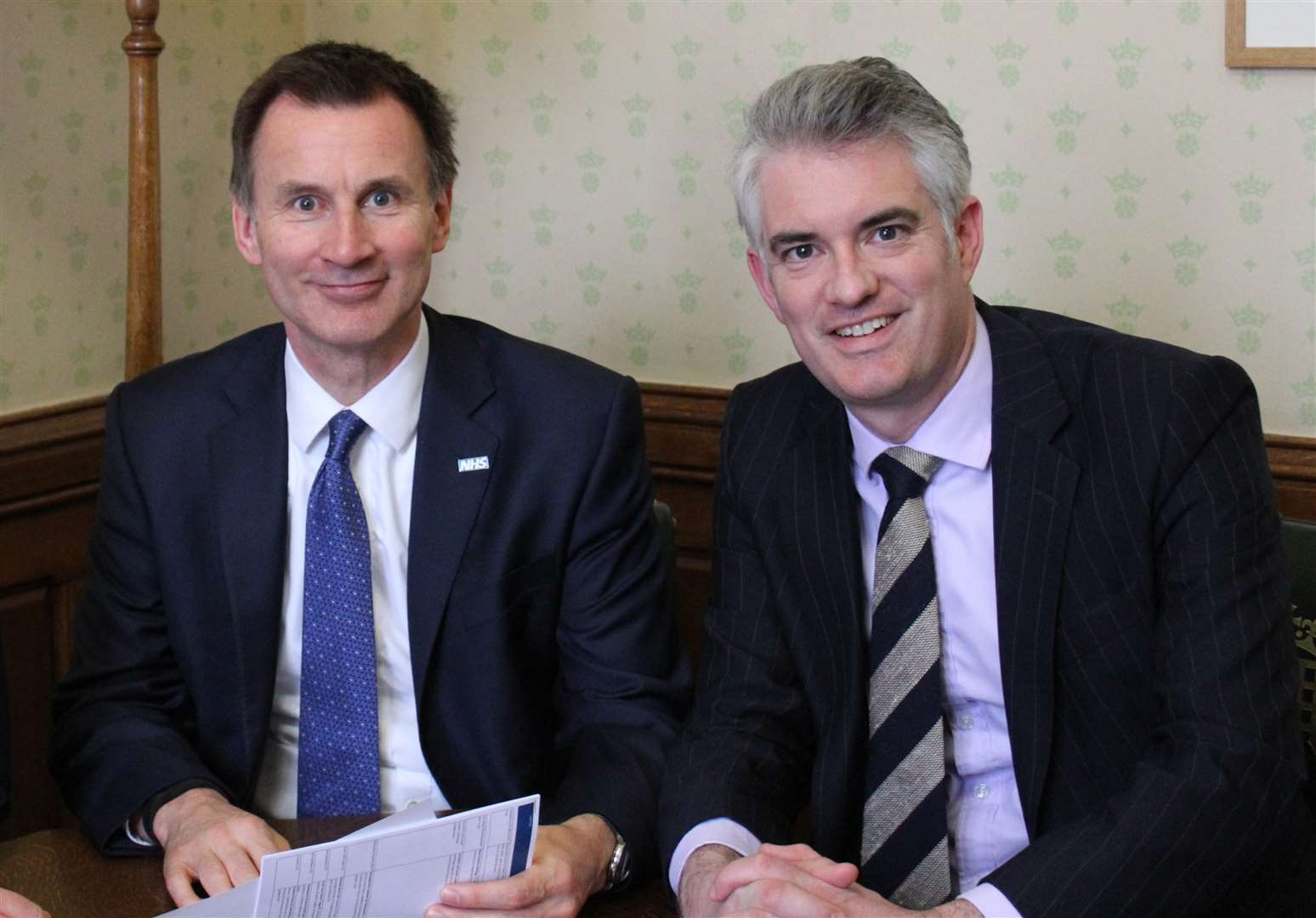 South Suffolk MP James Cartlidge (right) has been appointed the Parliamentary Private Seceretary to the Foreign Secretary, Jeremy Hunt. (3940994)