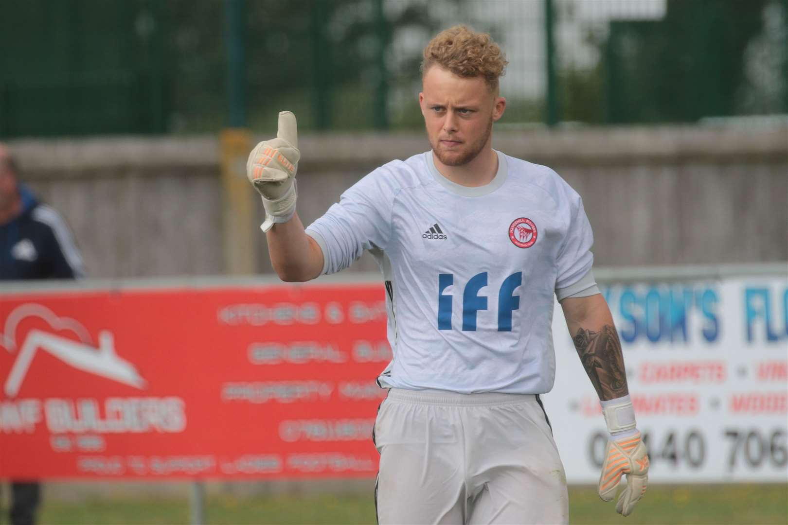 BF-10-08-2019-001-GD Haverhill Rovers on-loan Ipswich Town goalkeeper Toby Egan. (15547415)
