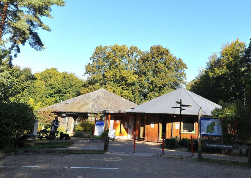 Visitor centre at Brandon Country Park.