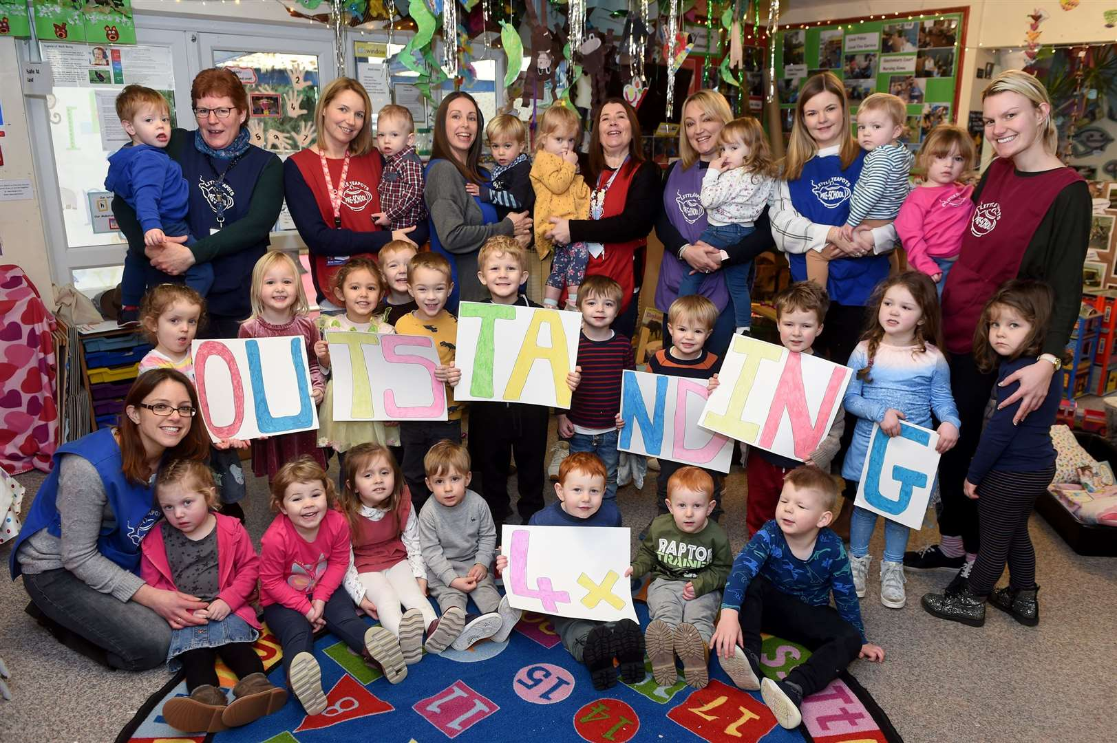 Little Tea Pots Pre School in Chedburgh are celebrating their fourth consecutive Ofsted outstanding inspection....PICTURE: Mecha Morton .... (26652906)
