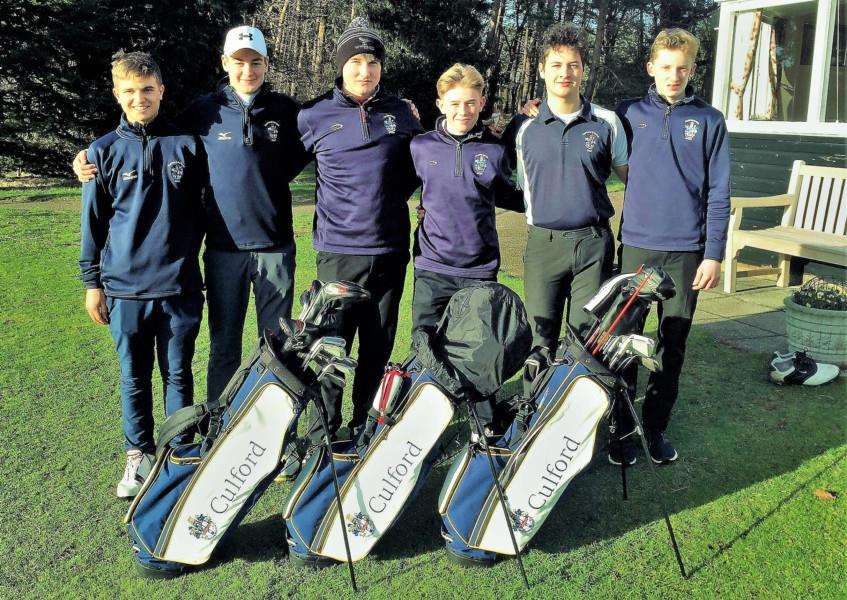 TOP TEAMS: Culford's golfers are competing for a place at the National Finals