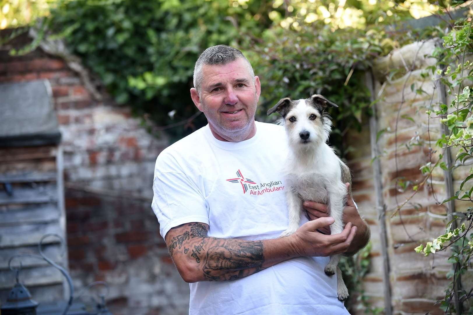 Sudbury resident Dick Neill and his dog Toby ascended the Britain's Three Peaks - Mount Snowdon, Scafell Pike and Ben Nevis - to raise money for the East Anglian Air Ambulance (EAAA).....PICTURE: Mecha Morton ... (16092500)