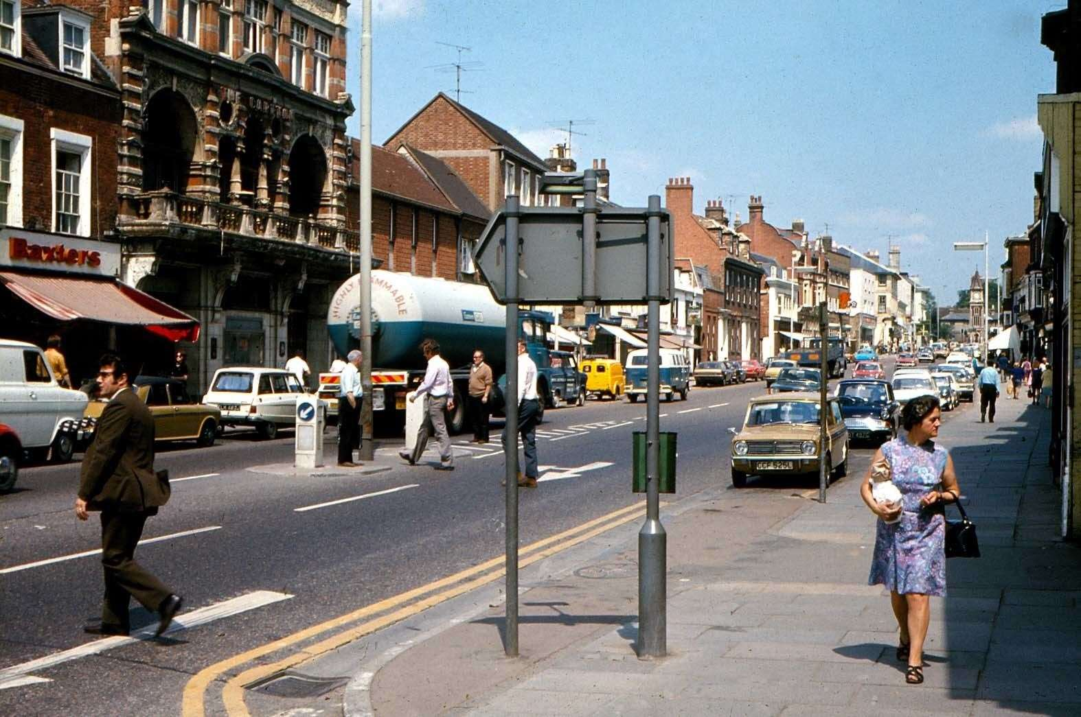 A busy Newmarket High Street in 1971. Picture: Pete Norman Collection