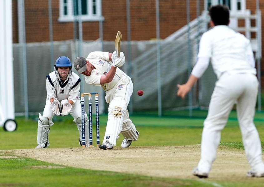GREAT FORM: Tom Piddington is looking good with the bat for Hadleigh, after hitting an unbeaten 100 against Worly
