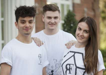 Olivia Bank,s Bradley Banks and Alex Owen have launched their own designed T-shirt business. ANL-141217-200013009