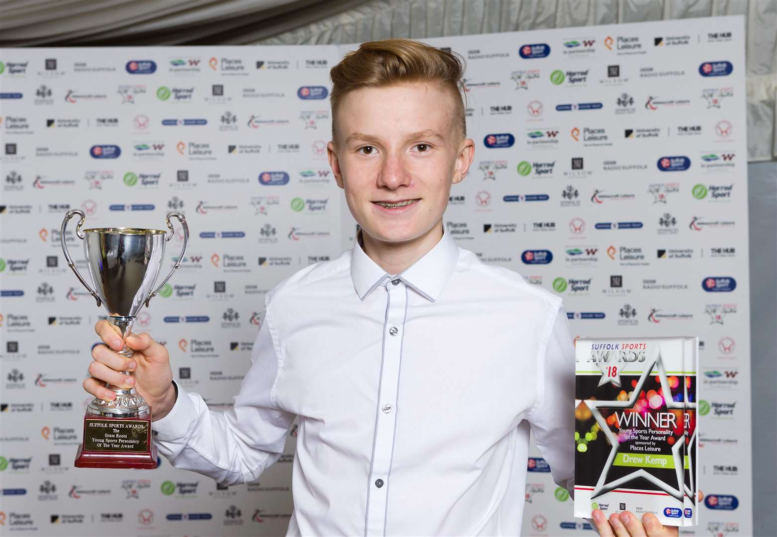 Drew Kemp won Young Personality of the Year award at Suffolk Sports Awards 2018/19 (40400531)
