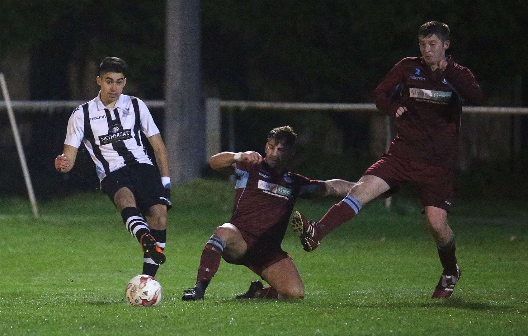 Pablo Chaves scored twice for Long Melford in last Friday's win at Brantham Athletic Picture: Richard Marsham