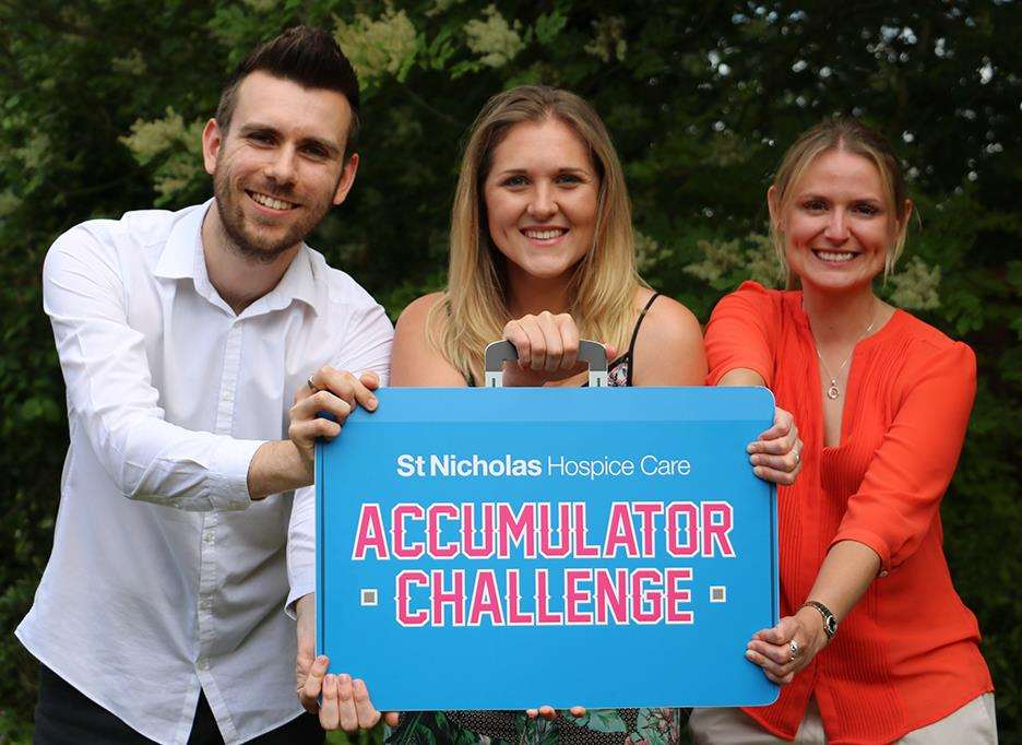 Join St NicholasHospice Care's Accumulator Challenge and help raise funds for a good cause. (2497608)