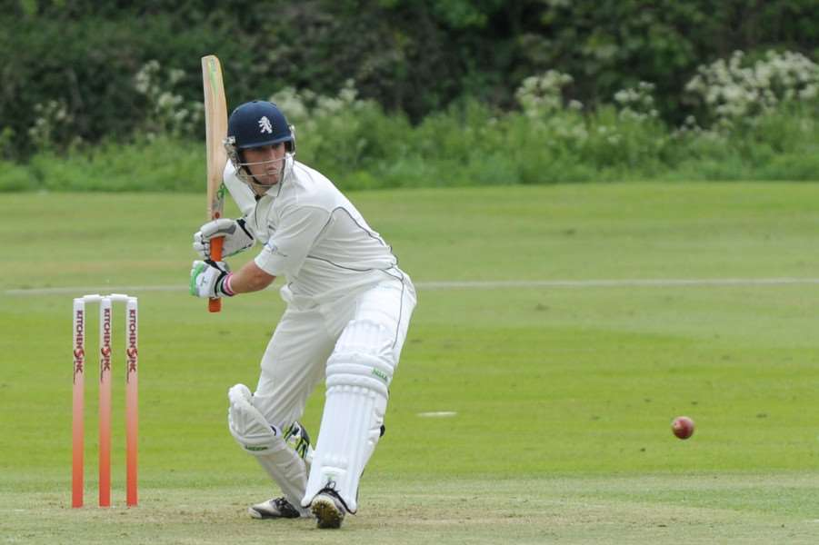 CRICKET - Mildenhall (Batting) v Haverhill (Bowling/Fielding)''Pictured: Ben Shepperson ANL-140505-163731009