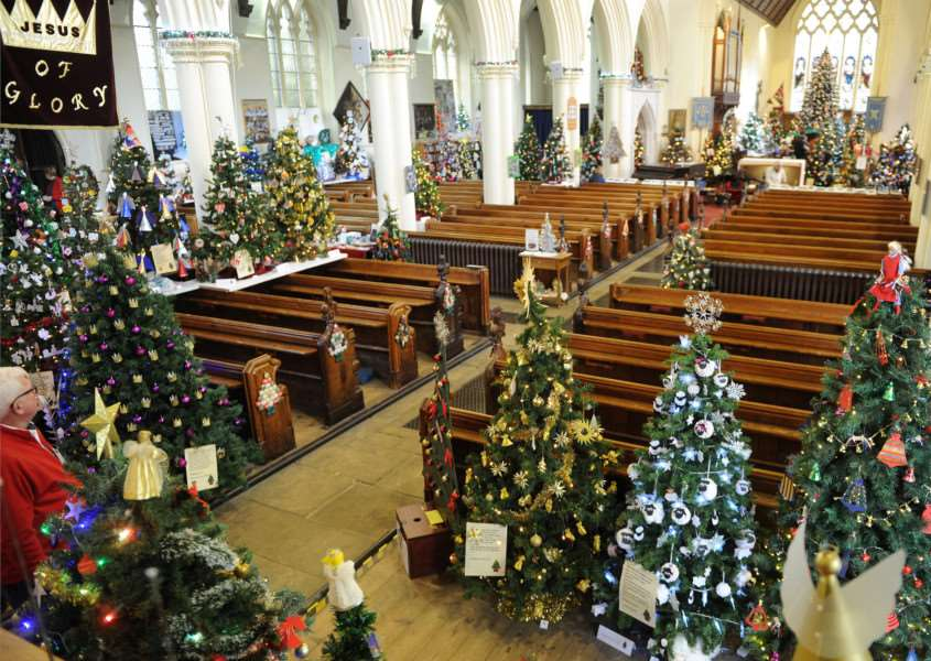 Christmas Tree festival at St Peter and St Marys Church Stowmarket ANL-161128-081057009