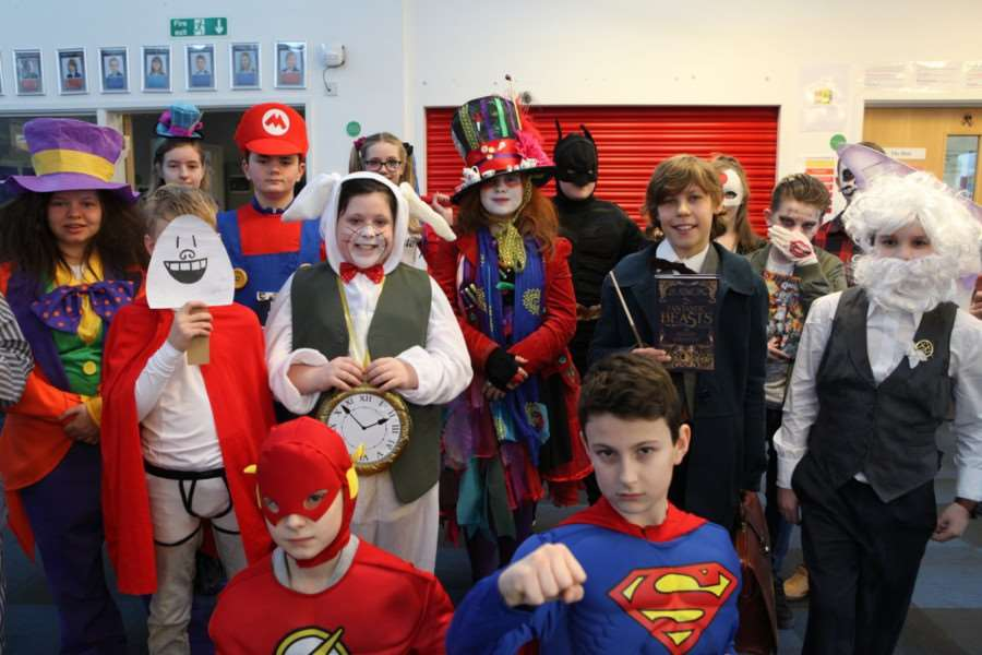 Students at Samuel Ward Academy don colourful costumes to celebrate World Book Day