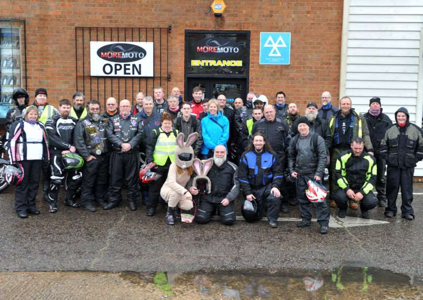 Bury & District MAG (motorcycle action group) held its annual Mad Cow Easter Egg Run today for the children at disability charity Scope in Shakers Lane. ANL-150329-202911009