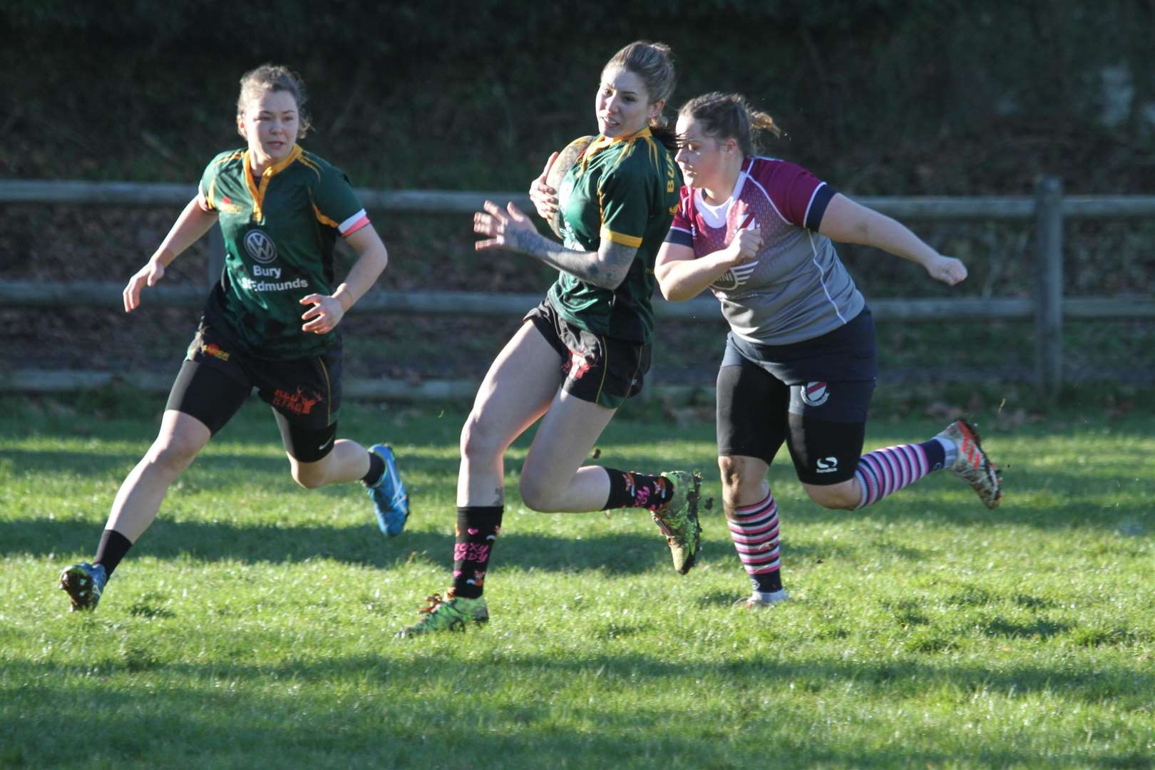 Stephanie Durrant on her way to scoring a try for Bury	Picture: Shawn Pearce