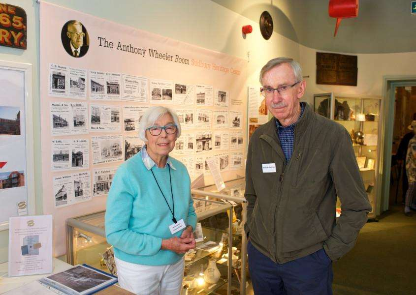 Sudbury, Suffolk. Sudbury Heritage Open Day 2017. Pictured are Valerie Herbert and David Burnett on the Sudbury Hertiage centre's preview of the new Anthony Wheeler room.''Picture: MARK BULLIMORE