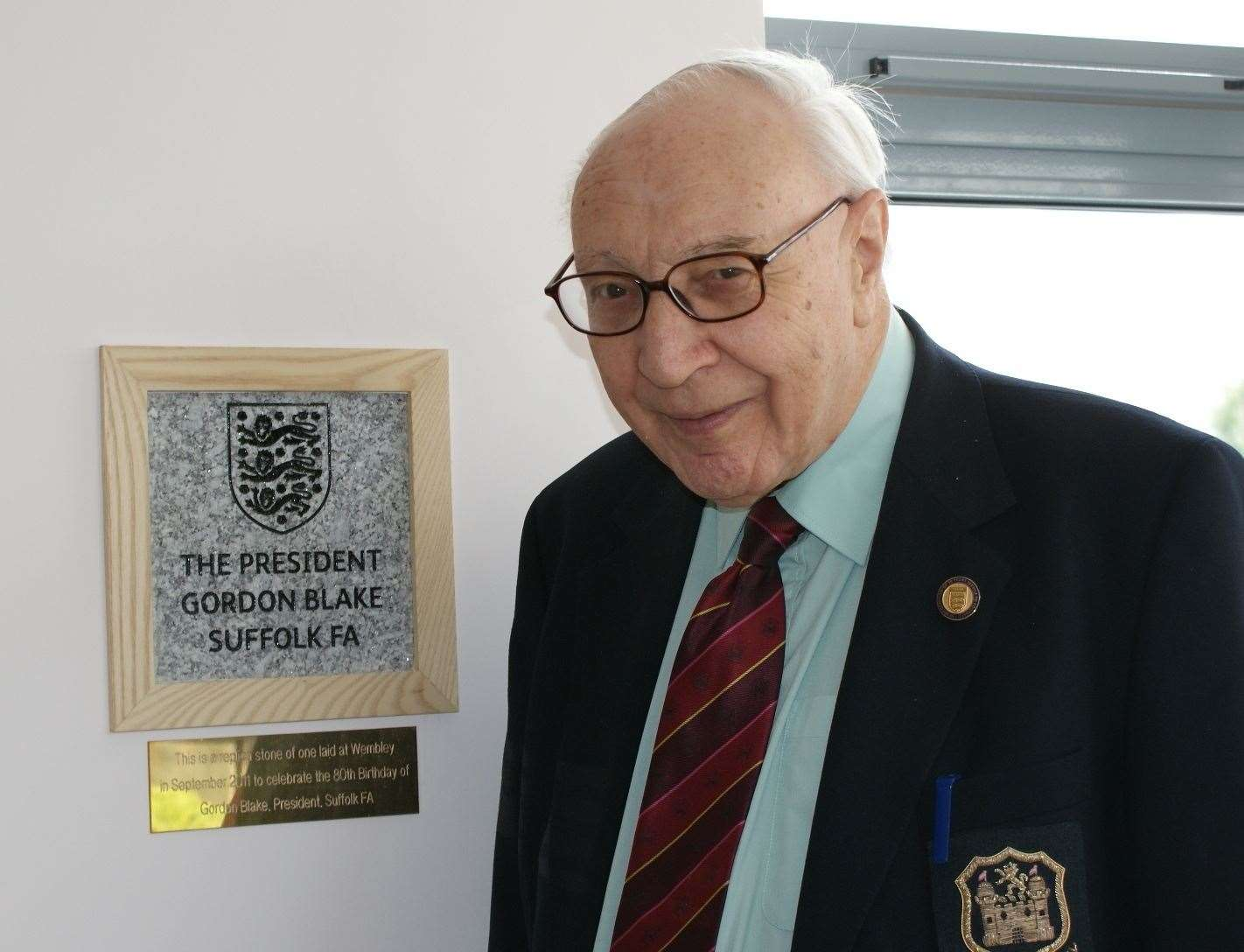 Suffolk FA president Gordon Blake, who has passed away at the age of 88Picture: Suffolk FA (20909034)