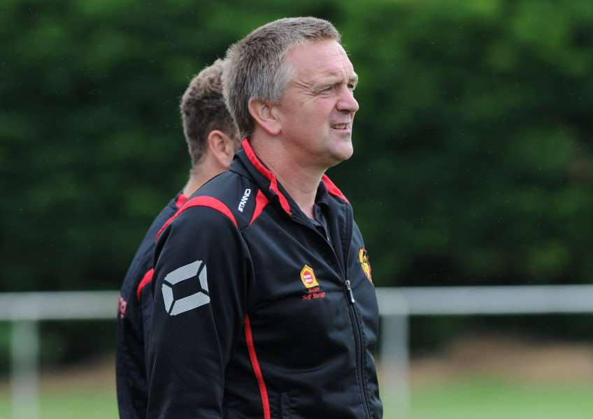 YOUNG GUNS: Dean Greygoose is happy with the standard of youngsters at Mildenhall Town