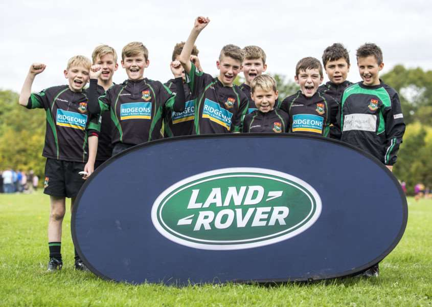 ALL SMILES: Newmarket Under-11s took part in ther Land Rovers Premiership Rugby Cup
