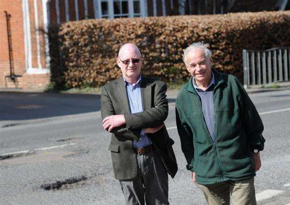 Long Melford councillors Richard Kemp and John Nunn are unhappy with the level of service currently being provided by Suffolk Highways. (2041733)