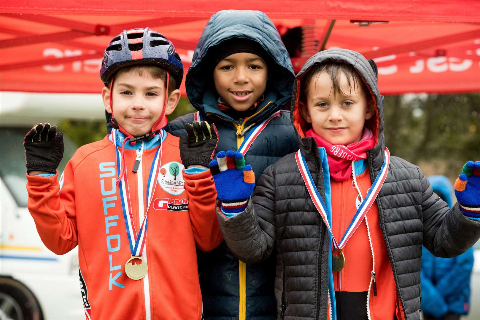 West Suffolk Wheelers will be holding Round 7 of the Eastern Cyclo-Cross League on Saturday 2nd November 2019 at West Stow Country Park. Junior winners. Boys under 14 Picture by Mark Westley. (21005088)