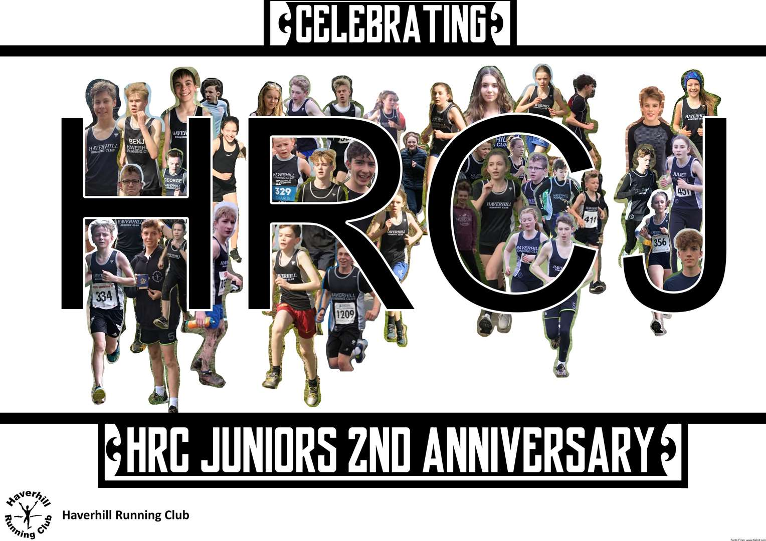 ~Haverhill Running Club's Junior section have celebrated their 2nd anniversary with a picture collage online (34271833)
