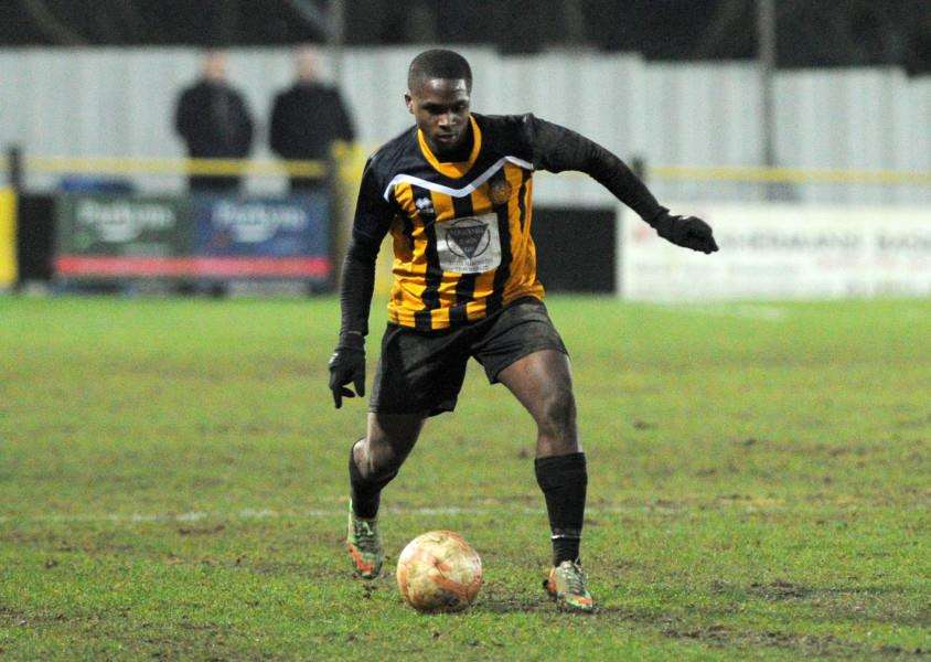ON FORM: Stowmarket's Amar Lewis