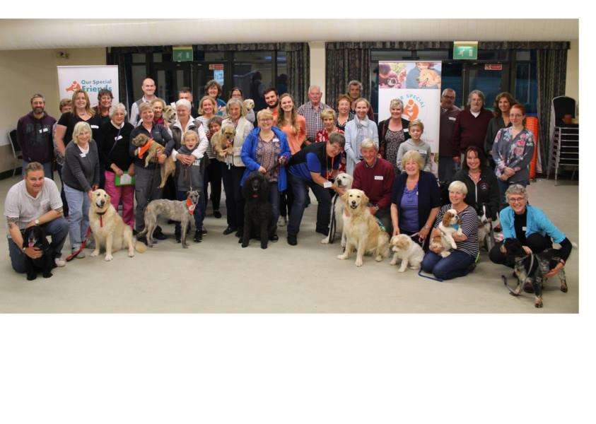 Our Special Friends volunteers with their 'visiting' dogs
