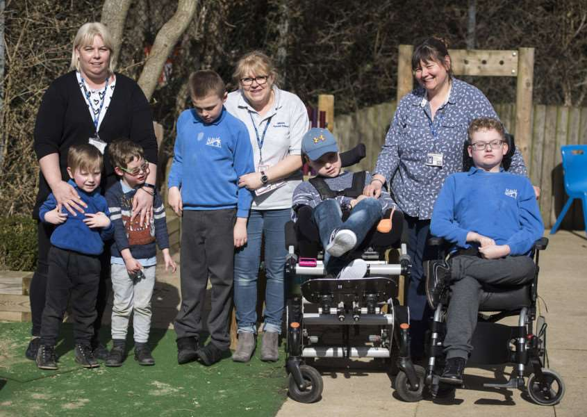 SUDBURY: Hillside Special School'Hillside Special School, Hitchcock Place, Sudbury, Suffolk'Nine members of staff at Hillside Special School will be pushing two wheelchair-bound pupils around the Sudbury Fun Run Course on Good Friday, to raise money for the school.'LSA staff Simone Fisher, Jo Ward and Kay Harling'Picture Mark Westley
