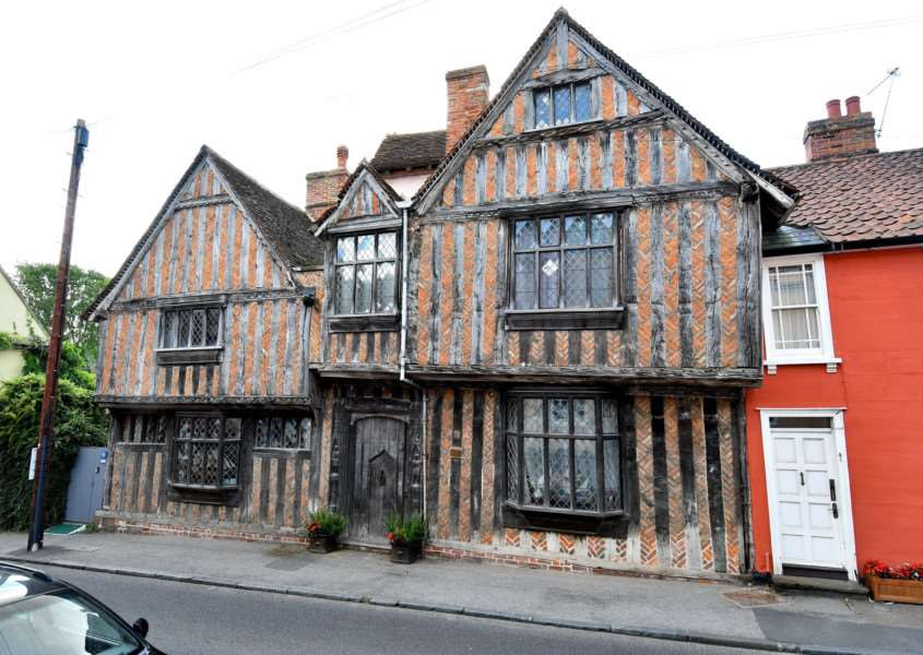 Lavenham, Suffolk. De Vere House in Lavenham which is on the market for �995,000. The house appeared in the Harry Potter films.''Picture: MARK BULLIMORE